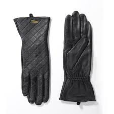 Barbour International Quilted Leather Gauntlet Glove - Black ... & Barbour International Quilted Leather Gauntlet Glove - Black Adamdwight.com
