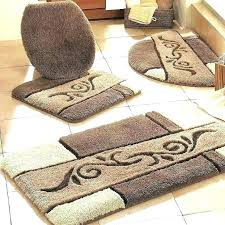 plush bathroom rugs sets designs small round bath winsome very oval