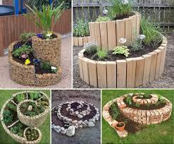 small gardens landscaping ideas. Garden Design With Gardening Landscaping Ideas And Diy Small Designs Inspirations Spiral Herb Gardens