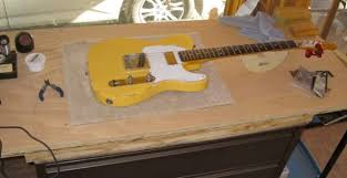 tele w humbucker in neck regular 5 way switch and greasebucket tele on bench jpg