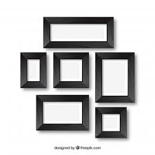 free vector photo frames in collage style