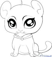 Coloring Pages Of Cute Animals With Big Eyes Coloring Book Fun