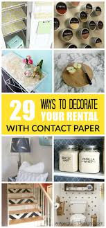 29 ways to decorate your al with contact paper