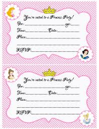 Princess Invitations Free Template Princess Birthday Party Invitations Free Printable Create Your Own