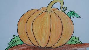 pumpkin drawing. how to draw pumpkin with basic shapes,easy drawing for kids, shapes.