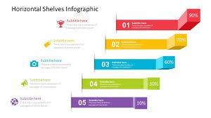 Infographics For Powerpoint Horizontal Shelves Infographic Powerpoint Template Fully Editable