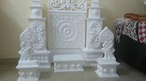 Thermocol Pillar Design Thermocol Decoration For Ganpati Makhar Made By Sandeep