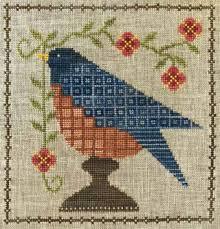 Bluebird Garden Cross Stitch Chart