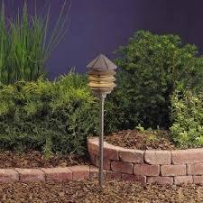garden path lights. Kichler Lighting 15205AZT Three Tier 1-Light 120-Volt Path \u0026 Spread Light, Garden Lights