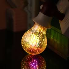 3d Fireworks Led Light Bulbs E27 A60 Decoration Holiday Lights