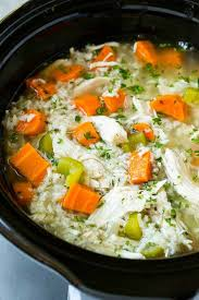 slow cooker en and rice soup the