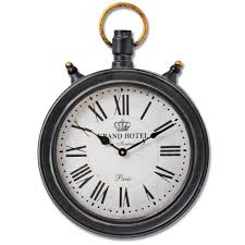 oval hanging pocket watch wall clock