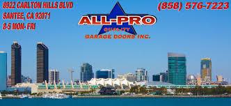 garage doors san diegoAllPro Quality Garage Doors Inc  San Diego CA
