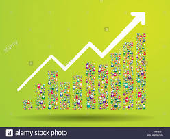 Growth Chart And Progress Leading To Success Growth Graph