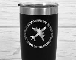 aviation gift plane lover gift pilot mug airplane mug engrave travel mug travel mug with e gift for pilot engraved tumbler