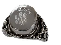 round ring pet cremation jewelry