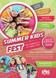 Summer Camp Flyer Templates Free English Flyer Design Summer Program