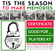 gift certificates waco escape rooms wer gift certificate png