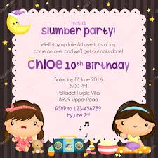 Slumber Party Birthday Invitation Card Stock Vector Comodo777