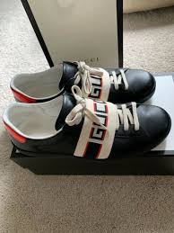 gucci stripe leather sneaker size 11