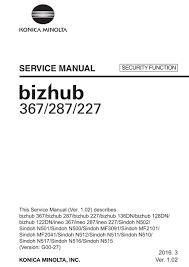 Optez pour un système d'impression de dernière génération. Konica Minolta Bizhub 287 Service Manual Pdf Download Manualslib