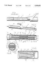 patent us5345055 fast heating curling iron and control circuit patent drawing