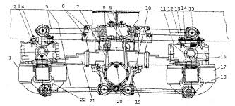 Задняя подвеска автомобилей КамАЗ Реферат Установка задней подвески продольный вид 43101 43114 43118 1 мост промежуточный 2 рама 3 рычаг реактивный верхний 4 шпильки