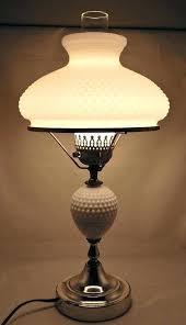hobnail table lamps antique milk glass