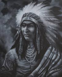native american art galleries prints painting chief kamiakin