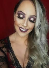 full headshot glamorous makeup look on courtney hollins