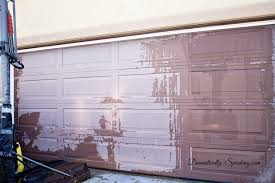diy garage doorDIY Garage Door Makeover with Stain  Domestically Speaking
