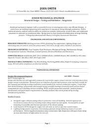 Mechanical Engineering Resume Sample Sample Resume For Mechanical