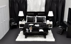 Black and white themed bedroom | Devine Interiors