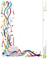 Birthday Border Clip Art Birthday Cupcake With Ribbons And Free