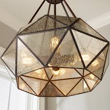 decorations prism framed mercury glass chandelier light shades of photo with astounding diy fixture pendant