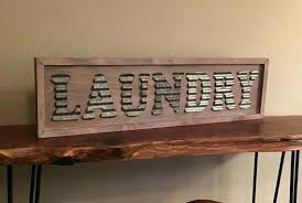 wooden laundry room signs corrugated metal laundry sign white washed sign wooden laundry room decor laundry