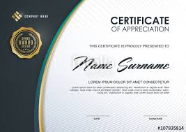 Corporate Certificate Template Adorable Certificate Template With Luxury And Modern PatternQualification