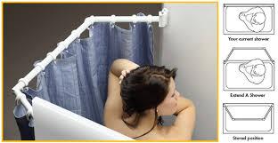 extend a shower bigger shower curtain rod travel trailer pop up camper rv bunks
