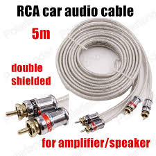 subwoofer speaker wire adapter promotion shop for promotional Subwoofer Speaker Wire Adapter high quality 5 meters rca to rca car audio stereo cable wire for car amplifier speaker subwoofer white two rows pure copper subwoofer cable to speaker wire adapter