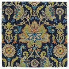 taj navy 8 ft x 8 ft square area rug