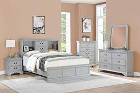Amazon.com: Esofastore Classic Modern Bedroom Furniture 4pc Set ...