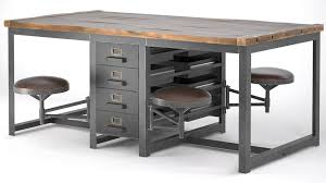 Industrial style furniture Dining Table Big Desktop Rupert In The Industrial Style 3d Model Max Obj Mtl Fbx Cgtrader 3d Model Big Desktop Rupert In The Industrial Style