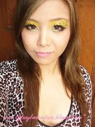 leopard print make up look