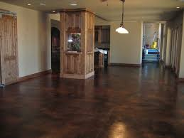 house colors with dark stained concrete floors
