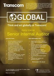 cv keskus t ouml ouml pakkumine senior internal audit toumloumlpakkumise number