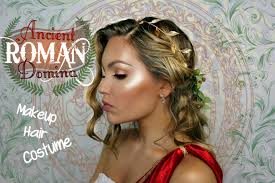 Ancient Roman Hair Style ancient roman domina makeup hair and costume youtube 6252 by wearticles.com