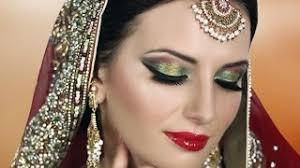 traditional indian bridal makeup tutorial red gold green asian stani arabic bengali wedding