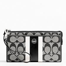 ... COACH f49078 SIGNATURE STRIPE PVC STRIPE ZIPPY WALLET Coach Legacy In Signature  Large ...