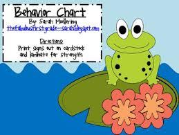 Frog Themed Behavior Chart Frog Themed Behavior Chart Clip Up Clip Down