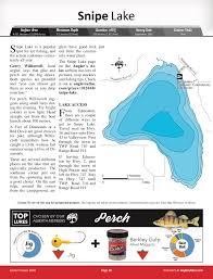 Snipe Lake Depth Chart Snipe Lake Alberta Anglers Atlas